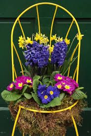 chair flowers - Google Search