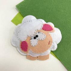 Ornement+en+feutre+de+mouton+mouton+blanc+chambre+denfant