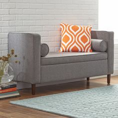 Found it at AllModern - Rimo Upholstered Storage Bench