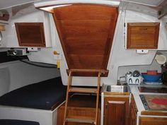 Location of paper towel roll and hatch door. Ericson 27, 1977 sailboat