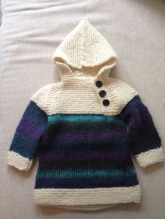 Oslo-anorakk ☺ Oslo, Crochet Baby, Needlework, Barn, Knitting, Sweaters, Fashion, Tejidos, Embroidery