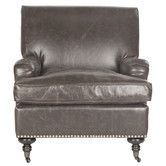 Found it at Wayfair - Mercer Chloe Club Chair. Claims to be brown looks grey?