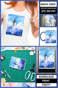 This digital art is great for apparel, wall art, card making, tea and coffee cups and other crafts. This product was created using my original watercolor. SAVE 35% 💗 Enjoy 35% savings when you buy 3 items! Use the code: 35DIG at checkout.