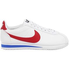 Nike Women Classic Cortez Leather Sneakers (€100) ❤ liked on Polyvore featuring shoes, sneakers, nike footwear, leather shoes, genuine leather upper shoes, real leather shoes and leather upper shoes