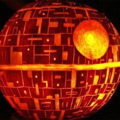 DIY Pumpkin Death Star by bulbinblue #Pumpkin #Death_Star #bulbinblue