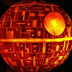 DIY Pumpkin Death Star AWESOME!!!