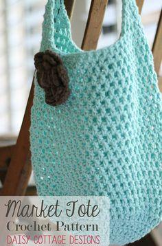.Two Hour Tote - Free Market Tote Crochet Pattern - the most popular crochet patterns of 2014 so far via AllFreeCrochet ༺✿ƬⱤღ  https://www.pinterest.com/teretegui/✿༻
