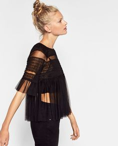 FRILLY TULLE TOP-Blouses-TOPS-WOMAN | ZARA United States