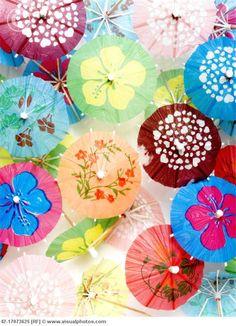 Pretty cocktail umbrellas. http://www.circuslondonpr.com/