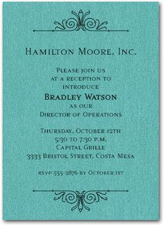Plantable Business Invitations on seed paper Formal