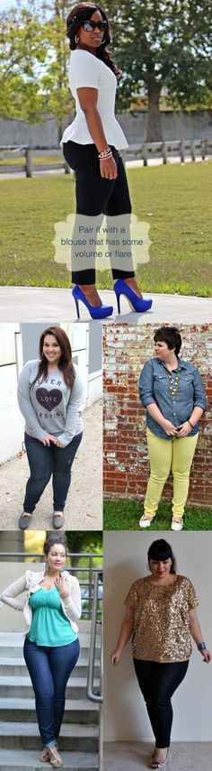 Tips-for-curvy-women-to-wear-skinny-jeans in style.. plus size fashion tips