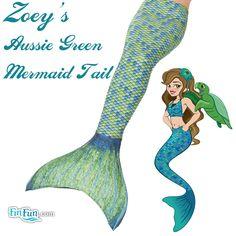 Mermaid Tail in Aussie Green