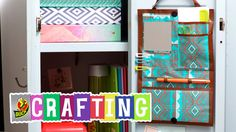 Learn how to craft a DIY locker organizer using Duck Tape® brand duct tape in this easy craft tutorial from DIY crafter and duct taper Simply Duck Designs. Locker Organization, School Supplies Organization, Diy School Supplies, Locker Storage, Tumblr Room Decor, Tumblr Rooms, Diy Videos, Craft Videos, Diy Locker