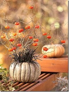 Nice table decoration for fall.