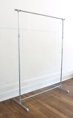 DIY garment clothes rack how to instructions free tutorial galvanised steel plumbing pipe