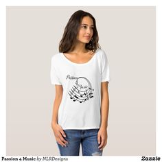 Passion 4 Music T-Shirt - Fashionable Women's Shirts By Creative Talented Graphic Designers - #shirts #tshirts #fashion #apparel #clothes #clothing #design #designer #fashiondesigner #style #trends #bargain #sale #shopping - Comfy casual and loose fitting long-sleeve heavyweight shirt is stylish and warm addition to anyone's wardrobe - This design is made from 6.0 oz pre-shrunk 100% cotton it wears well on anyone - The garment is double-needle stitched at the bottom and sleeve hems for extra…
