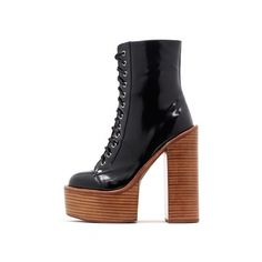 Paulita via Polyvore featuring shoes, laced up shoes, laced shoes, lace up shoes, platform shoes and platform lace up shoes