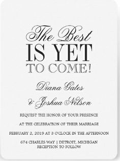 The best is yet to come! Elegant white #save_the_date invitations.