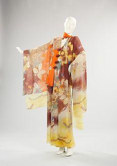 Hanae Mori evening ensemble ca. via The Costume Institute of The Metropolitan Museum of Art Vintage Dresses, Nice Dresses, Vintage Outfits, Vintage Kimono, 1960s Fashion, Vintage Fashion, Asian Fashion, Vintage Style, Fashion Women