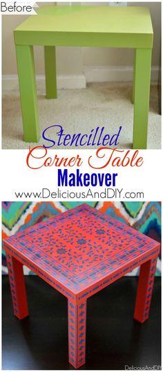 Stencilled Corner Ta