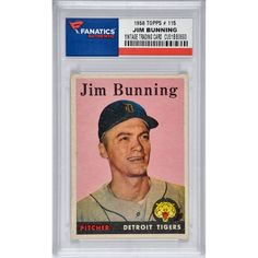Jim Bunning Detroit Tigers 1958 Topps #115 Card - $29.99
