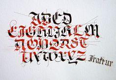 Fraktur alphabet exercise