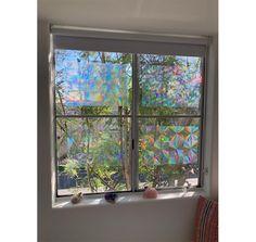 Decorative Window Film - Holographic Window Film - X Panel - Assorted Films - Glowing Items - Rainbow Hippy Room, Window Stickers, Window Decals, Window Styles, Window Film, Window Design, Room Themes, Small Apartments, Holographic