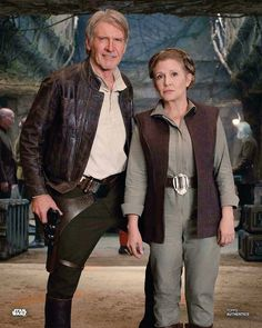The Icons: (both the Actors AND the Characters): Harrison Ford/'Han Solo' and Carrie Fisher/'Princess (General) Leia'. Star Wars: 'The Force Awakens', Star Wars Film, Star Wars Rebels, Simbolos Star Wars, Star Wars Love, Star War 3, Star Wars Han Solo, Harrison Ford, Reylo, Rougue One