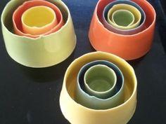 Nadine Spalter NZ Ceramic Artist - nesting vessels