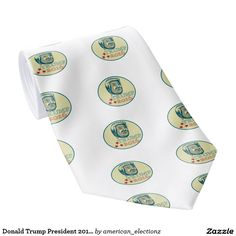 "2016 American elections necktie with an illustration showing American real estate magnate, television personality, politician and Republican 2016 presidential candidate Donald John Trump with the words ""Trump John Trump, Donald Trump, Presidential Candidates, Presidents, Personality, Real Estate, Tie, American, Illustration"