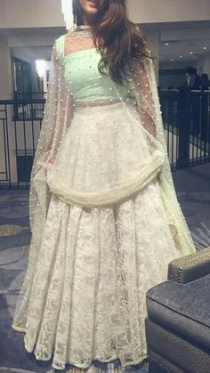 indian fashion Anarkali -- Click visit link to see Indian Wedding Outfits, Pakistani Outfits, Indian Outfits, Dress Wedding, Pakistani Clothing, Wedding Hijab, Indian Clothes, Indian Attire, Indian Ethnic Wear