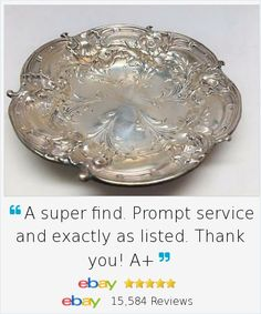 Even if you prefer modern table ware, adding a beautiful piece of antique sterling silver to your table is always elegant. Les Six Fleurs Sterling 1932 Reed Barton Silver Bowl Candy Bon Bon 276 Signed is beautiful and in outstanding condition.