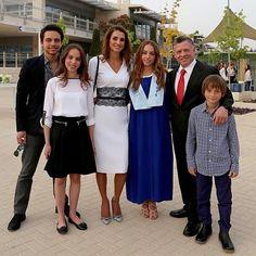 Rania de Jordania, en la graduación de su hija Imán: 'No podría estar más orgullosa'