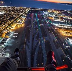 Good Night, this is LAX airport, photo taken from a helicopter