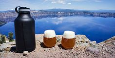 Water Bottle & Beer Growler(Hydro Flask) Thermos for beer http://coolmaterial.com/home/hydro-flask-insulated-bottle-growler/