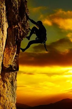 great climbing shot