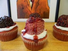 Zombie Brain Cupcakes | The Ultimate Collection Of Creepy, Gross And Ghoulish Halloween Recipes