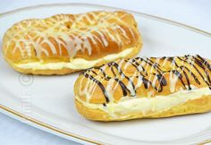 Sweets Recipes, Candy Recipes, Desserts, Romanian Food, Bread Bun, Pastry Cake, Eclairs, Desert Recipes, Hot Dog Buns