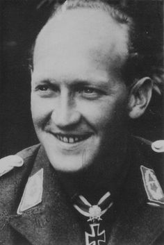 Werner Schröer (12 February 1918 in Mülheim an der Ruhr – 10 February 1985 in Ottobrunn) was a German World War II fighter ace who served in the Luftwaffe from 1937 until the end of the war. A recipient of the Knight's Cross of the Iron Cross with Oak Leaves and Swords, Schröer was the second most successful claimant of air victories after Hans-Joachim Marseille in the Mediterranean. He was credited with 114 victories (including 26 four-engined bombers), claimed in only 197 combat missions. Luftwaffe, Fighter Pilot, Fighter Jets, Ww2 Photos, World War One, German Army, Military History, Wwii, Knight