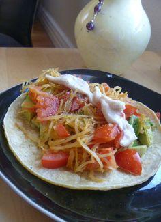 Spaghetti Squash & Avocado Tacos (w/ Tahini Sauce) (link = burrito inspiration!) #vegan