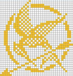Hunger Games May the Odds Be Ever in Your Favor Mockingjay cross stitch chart point de croix