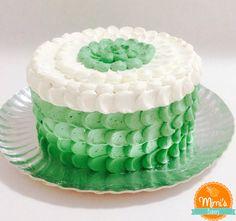 Petal Cake Verde e Branco