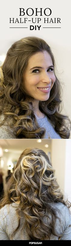 Half-up hair never looked so pretty! Try this tutorial to DIY beautiful beach curls.