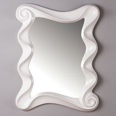Charmant For That Dark Blue Bathroom. I Pinned This Waverly Mirror In White From The  Cachet