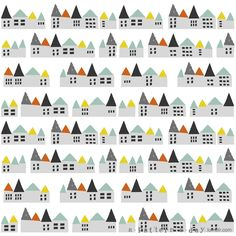 pattern illustration houses