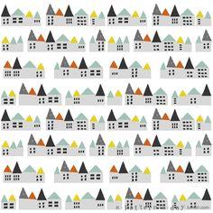 pattern illustration houses
