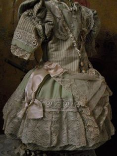 ~~~Pretty French Bebe Costume with Bonnet ~~~ from whendreamscometrue on Ruby Lane