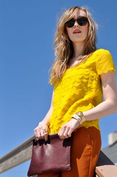perfect yellow top // 2eatsleepwear by eat.sleep.wear., via Flickr