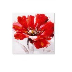 TABLEAU - TOILE Tableau toile peinture Fleur - 30 x 30 cm