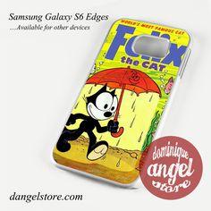 Felix the Cat in Umbrella Phone Case for Samsung Galaxy S3/S4/S5/S6/S6 Edge/S6 Edge Plus